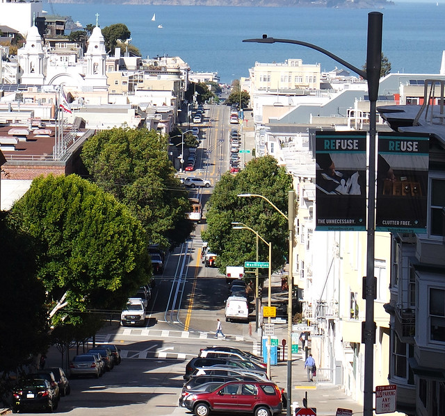 Mason Street with North Beach Church in the background