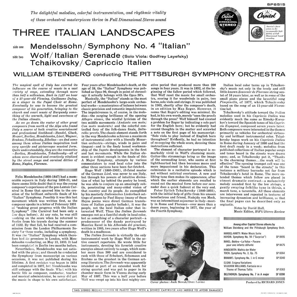 William Steinberg - Three Italian Landscapes