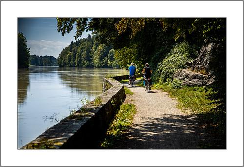 Radeln am Inn (Cycling at the river Inn)