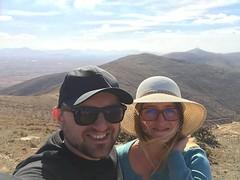#😎 # # #africa #spain # #es #canaryislands #islascanarias #fuerteventura #betancuria #selfie #friends #sunny #clouds #holidays #vacation #instagood #instatravel #vistapoint