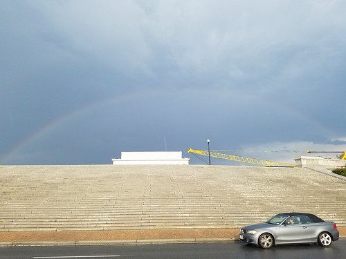 Rainbow over the Lincoln Memorial