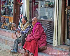 Friends at Boudhanath, Kathmandu, Nepal