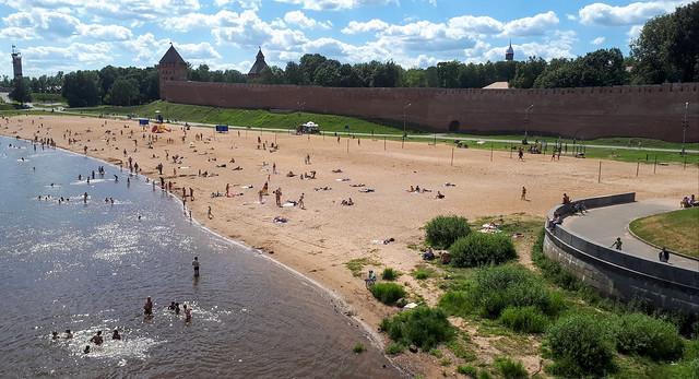 Beach on the Volkhov, Veliky Novgorod