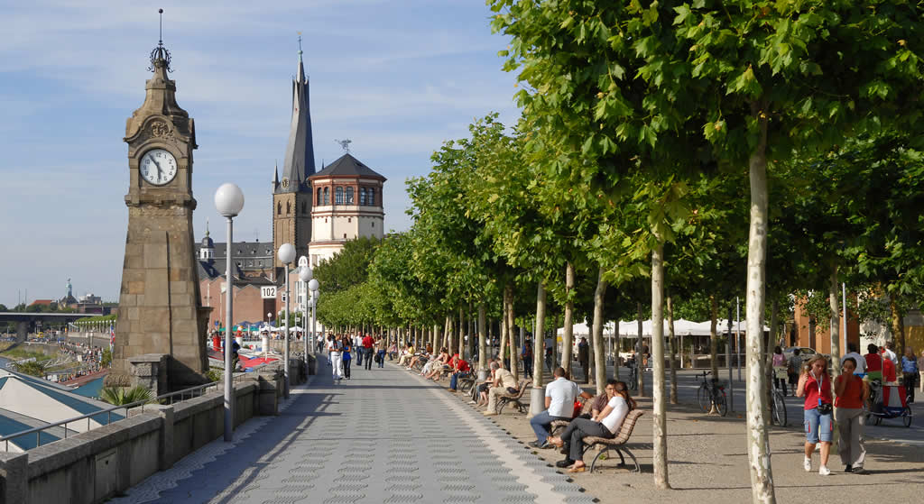 Düsseldorf in een dag: de Rijnoever | Mooistestedentrips.nl