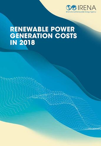IRENA綠能發電成本報告封面。