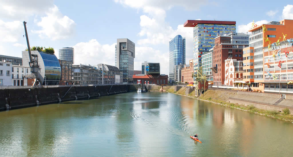 Düsseldorf in een dag: Medienhafen | Mooistestedentrips.nl