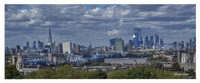 The City of London seen from Greenwich Observatory.
