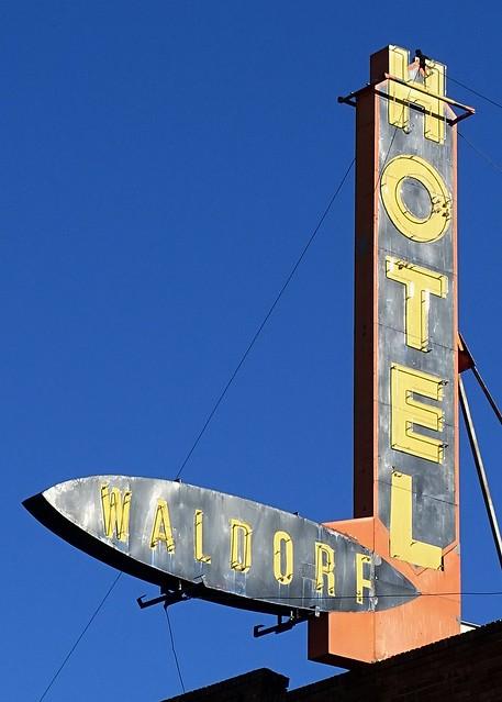 AB, Drumheller-Hotel Waldorf Neon Sign