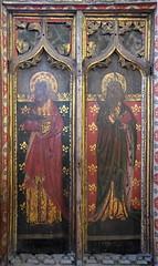 rood screen south: St Simon and St Bartholomew
