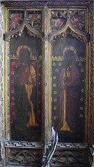 rood screen north: St Thomas and St Philip