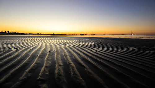 water beach ripples sunset sea tide sand