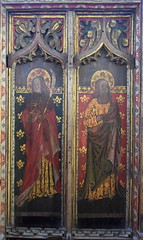 rood screen south: St John and St Jude