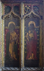 rood screen north: St James the Less and St Matthew