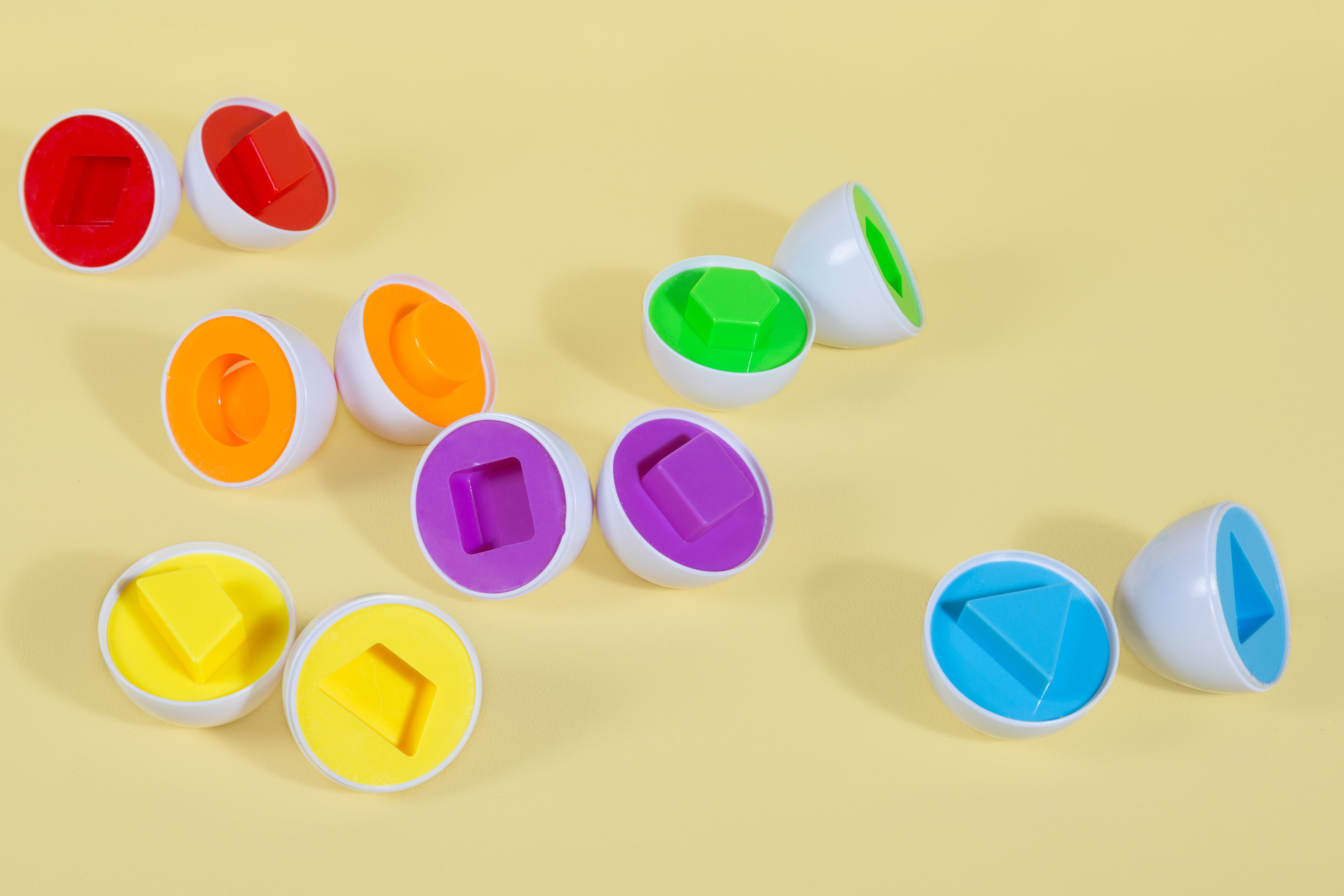 shape egg toys. photo credit Shopify Partners on Burst.