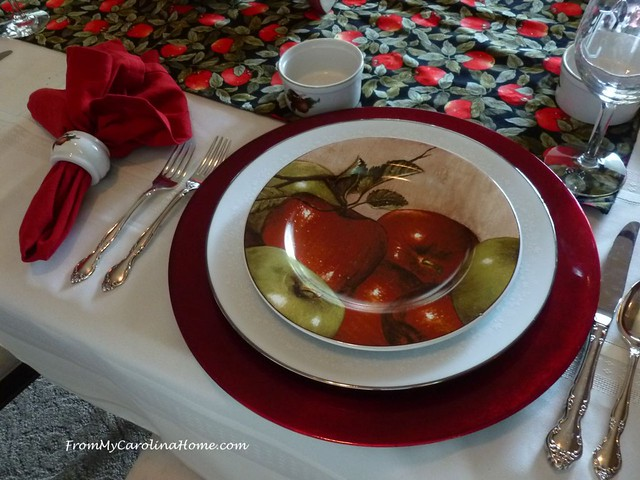Apple Tablescape at FromMyCarolinaHome.com