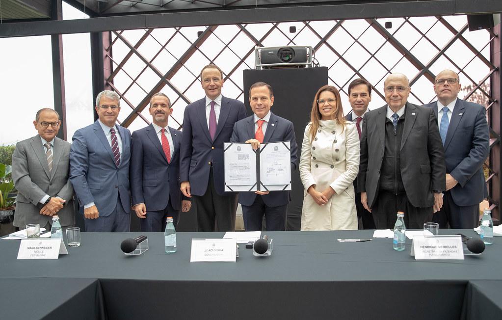 Anúncio de investimentos da Nestlé no Estado de São Paulo