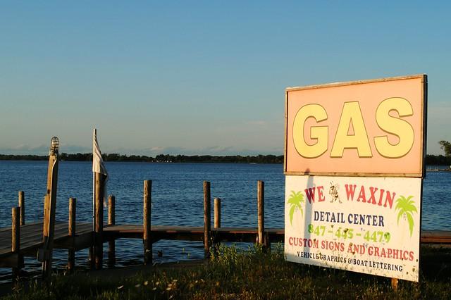 Gas Stop on Grass Lake ( Chain O' Lakes) Illinois