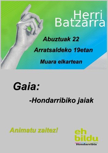Hondarribiko EH Bildu Herri batzarra Abuztua 2019