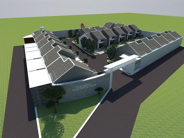 Desain Siteplan Tigaraksa Residence View