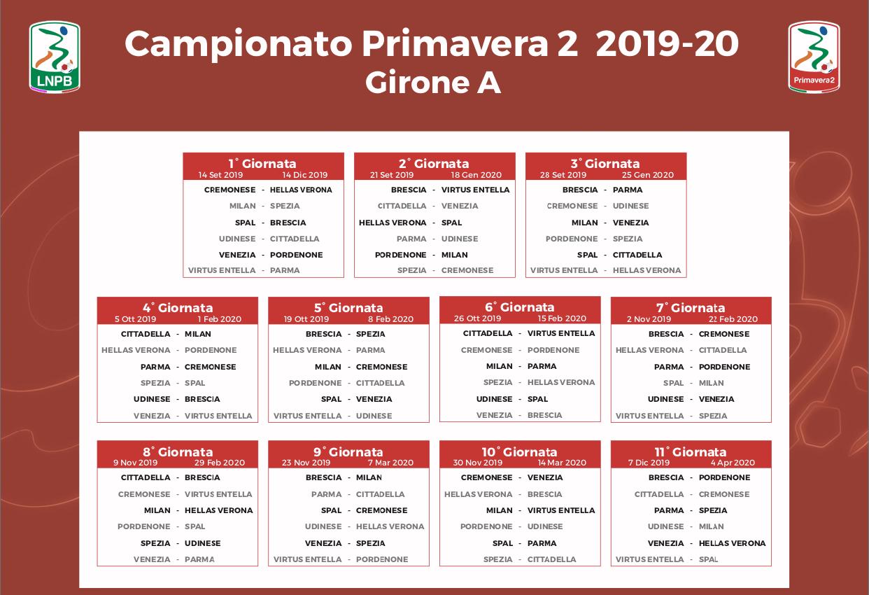 Calendario Cremonese.Il Calendario Completo Della Primavera 2 Hellas Verona 2019