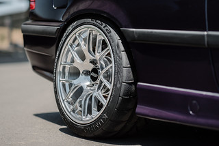 "BMW E36 M3 Track Car with 17"" EC-7R Forged Wheels in Polished 