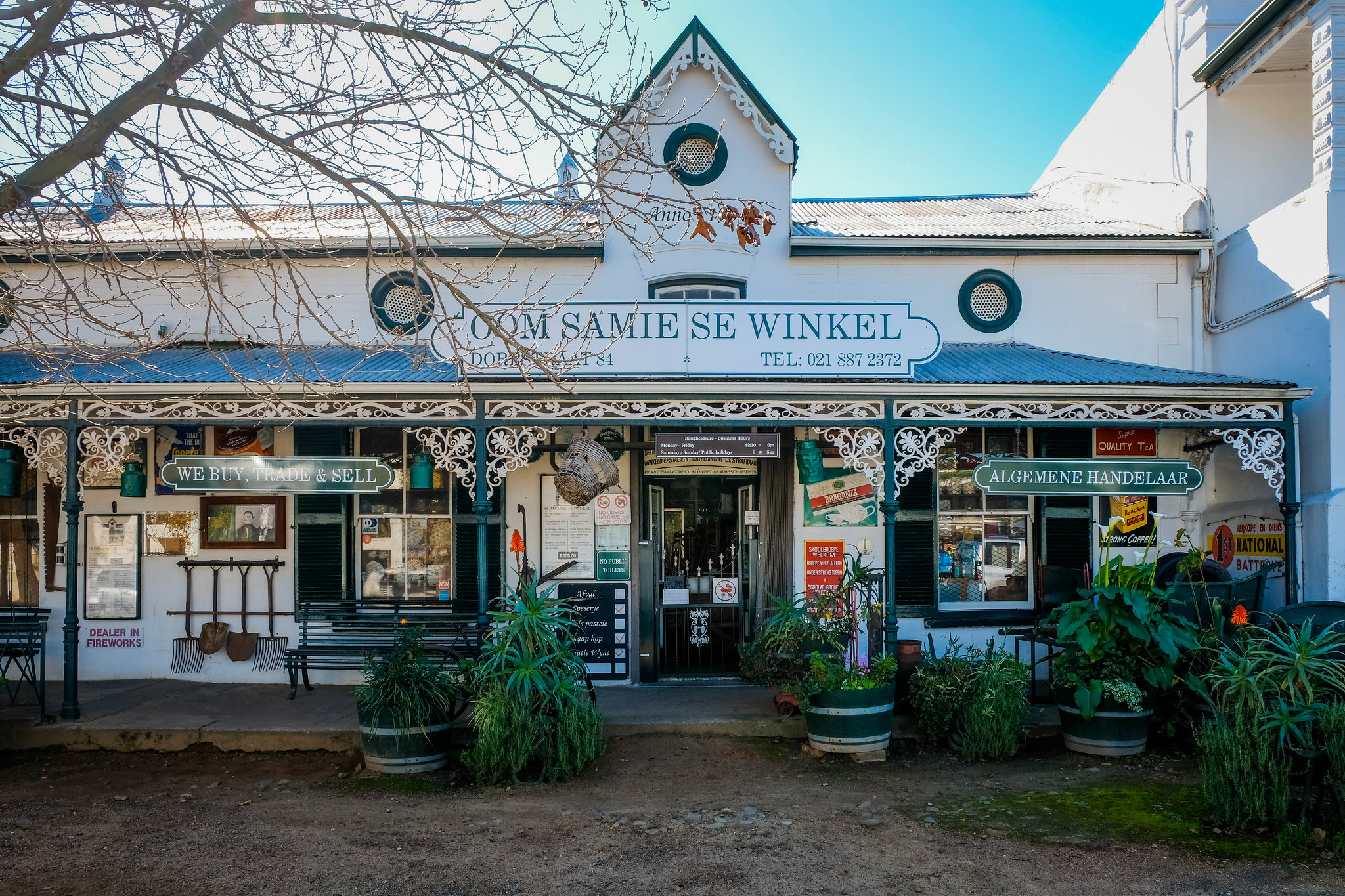 An old shop in the centre of Stellenbosch