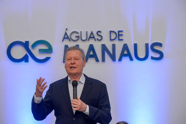 21.08.19 Prefeito palestra sobre saneamento básico em seminário promovido pela 'Águas de Manaus'