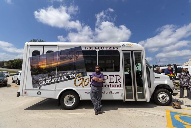 Chuck Sutherland (UCDD), Ride Upper Cumberland bus