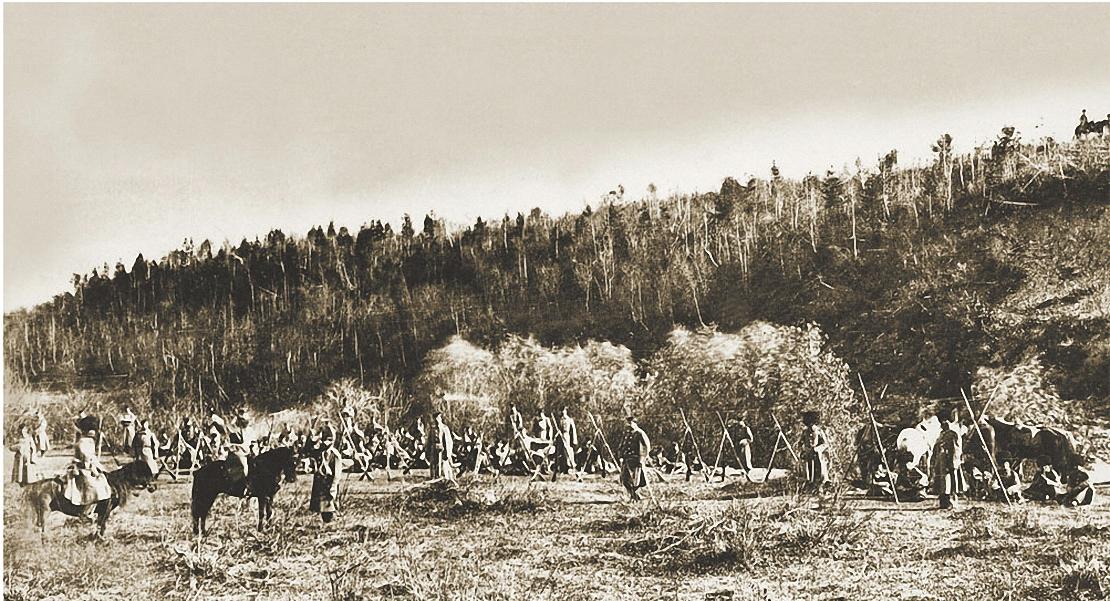Иркутск.Для царствующей особы в пригороде Иркутска были проведены смотры войск местного гарнизона