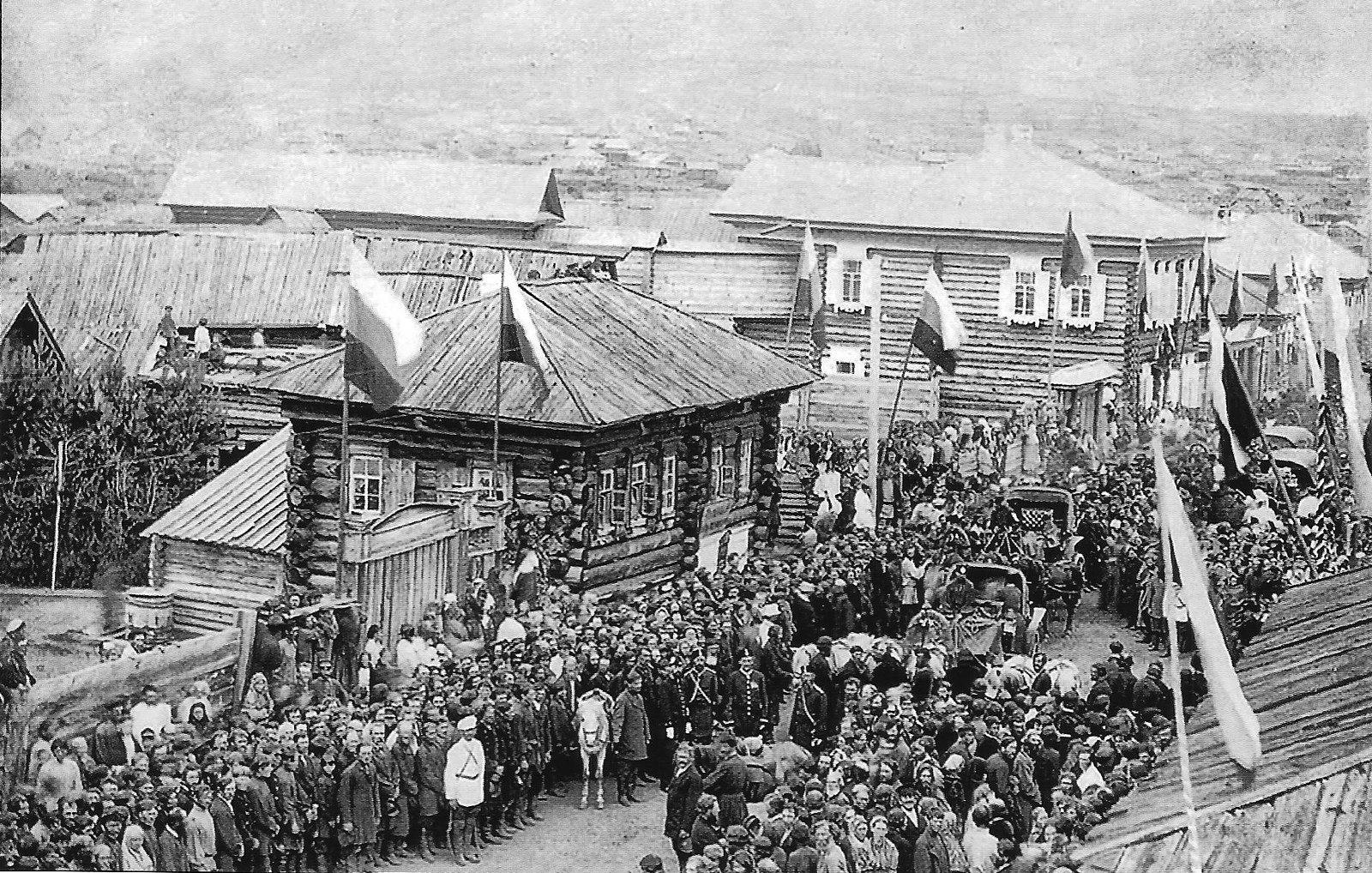 1891. Встреча будущего императора Николая II на станции Бирюса Енисейской губернии