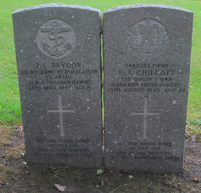 War Graves, Comely Bank Cemetery, Edinburgh