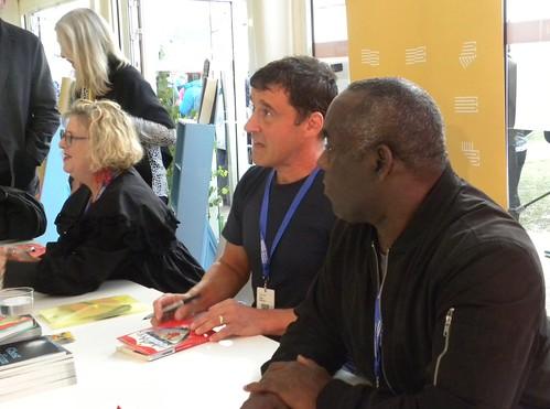 Sally Gardner, Tom Palmer and Alex Wheatle