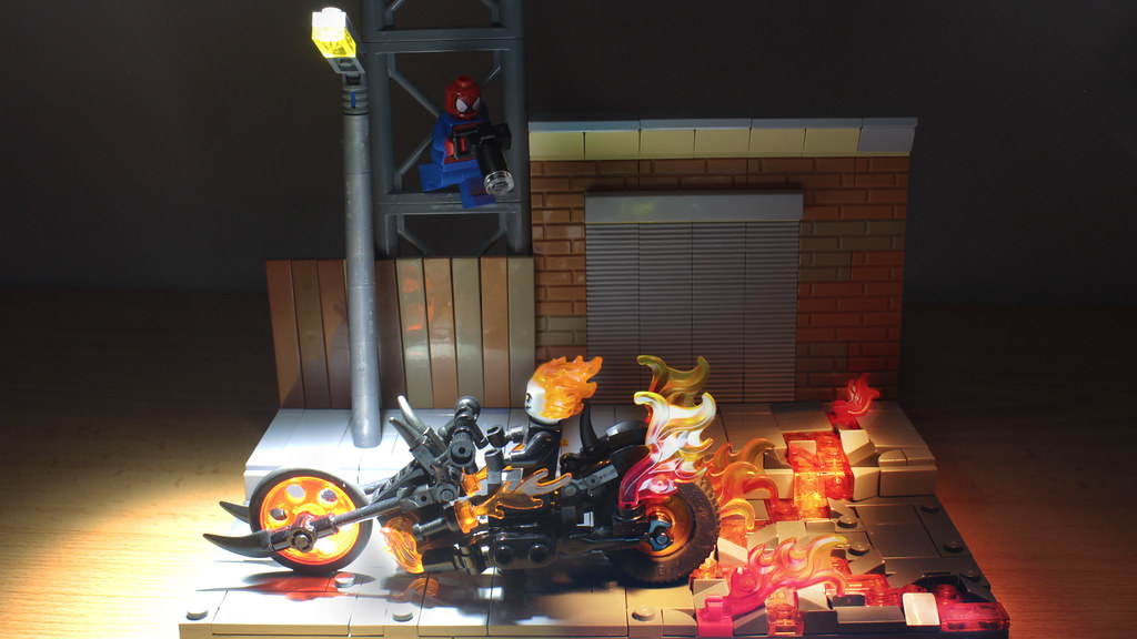 Lego Ghost Rider's bike