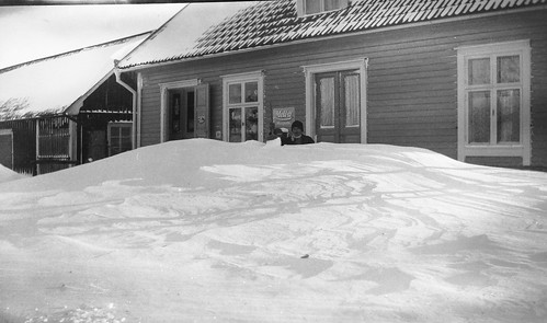 "The ""Russian"" winters. Kristvallabrunn, Sweden, 1941. Photo Ellen Forsberg (my grandmother)."