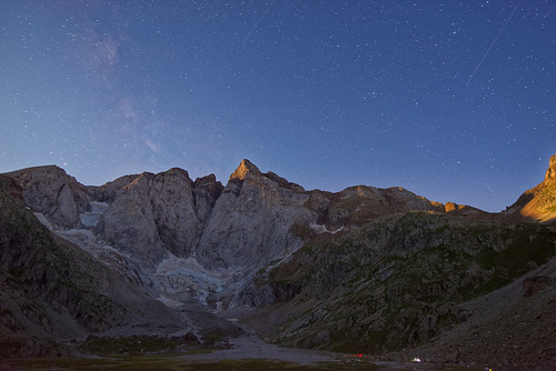 Moonrise over Vignemale, French Pyrenees