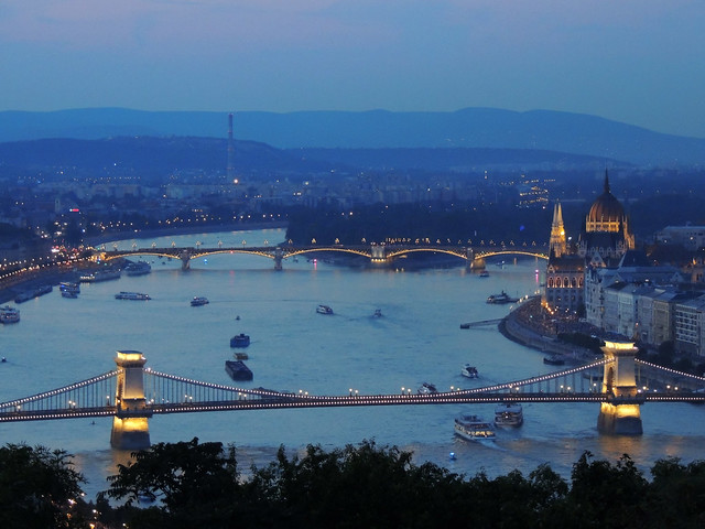 Blue hour on Budapest