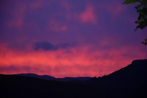 Posta de sol a Torrelles de Foix, Alt Penedès.