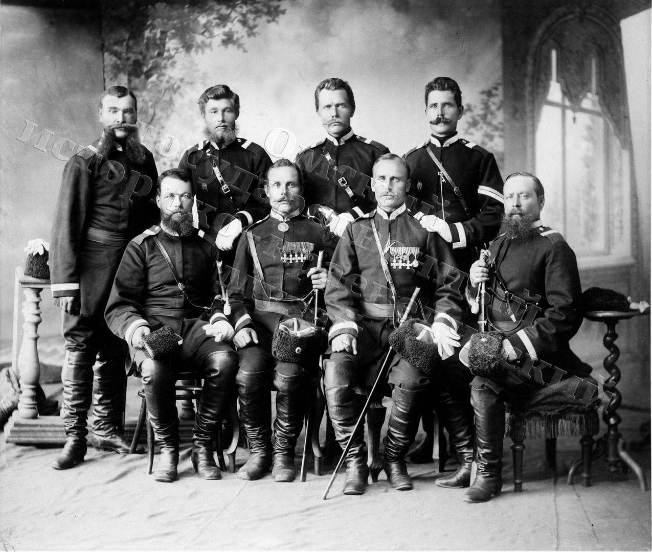 1891. Омск. Казачий конвой Цесаревича