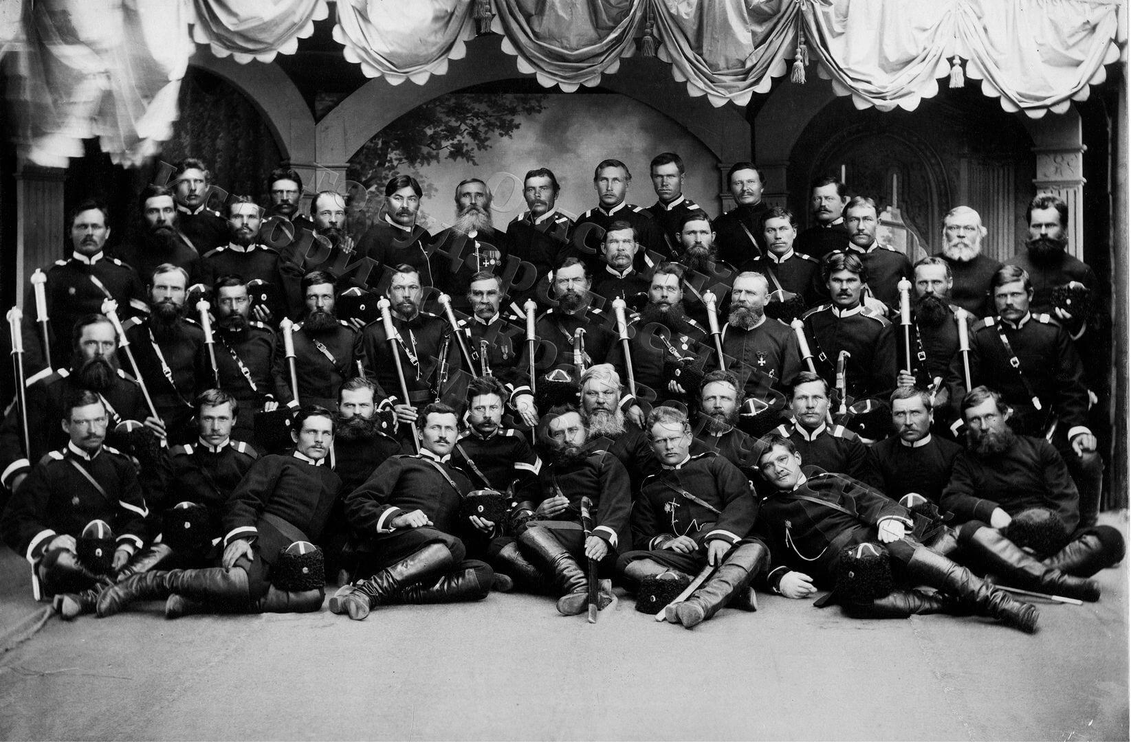 1891. Омск. Депутация 3-го отдела Сибирского казачьего войска