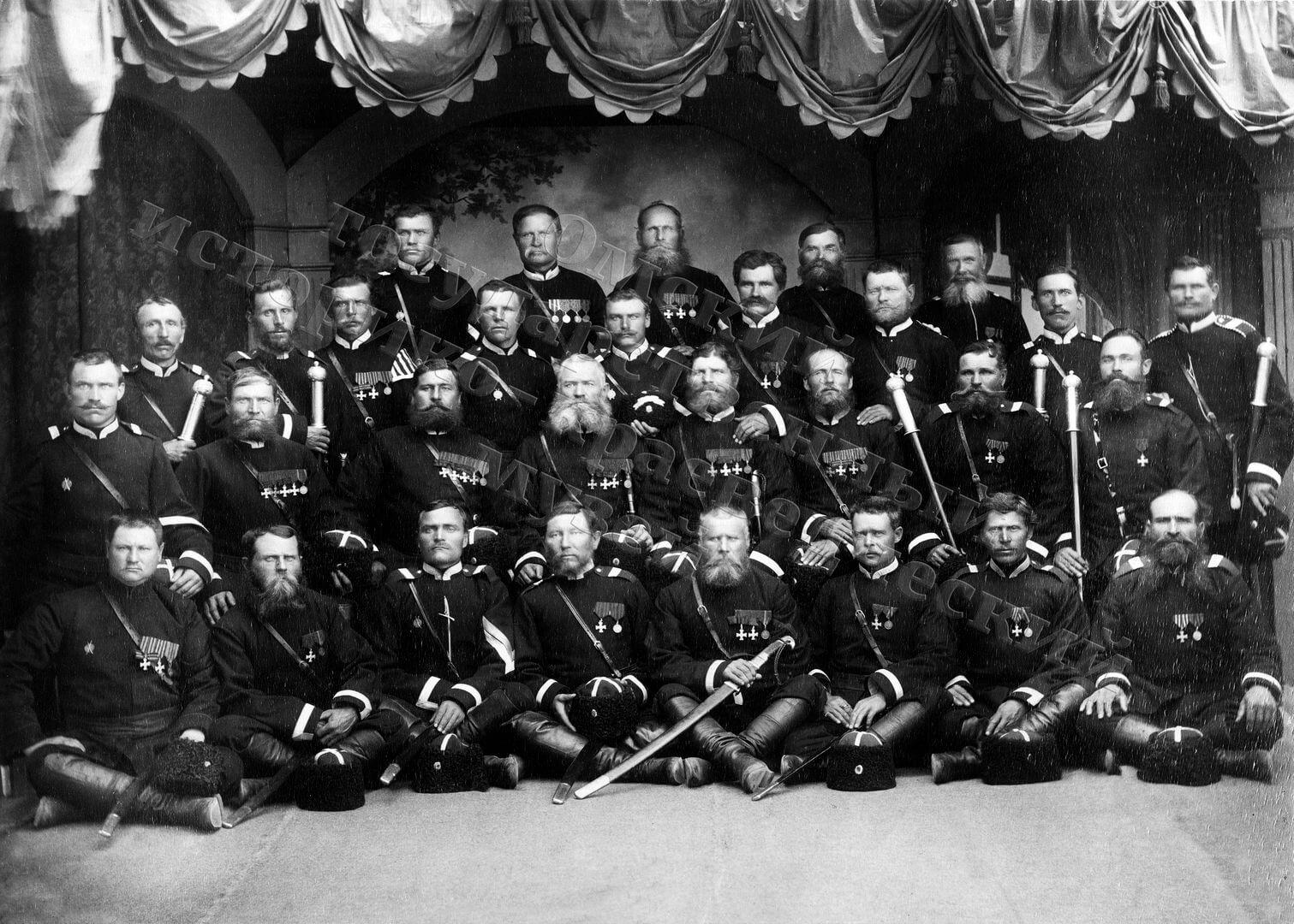1891. Омск. Депутация 1-го отдела Сибирского казачьего войска