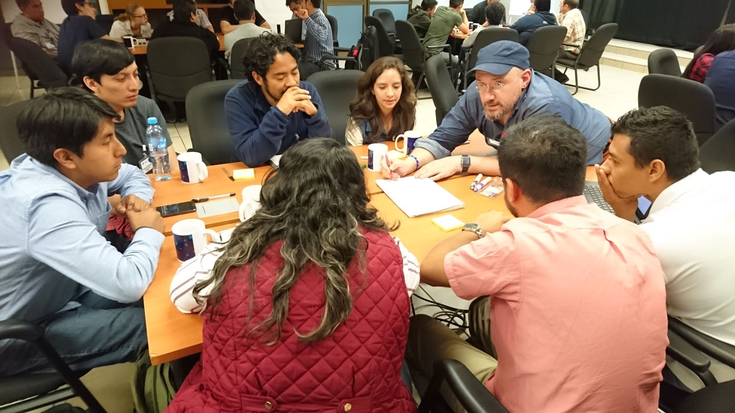 Group work with academics, students and partners at workshop in Mexico