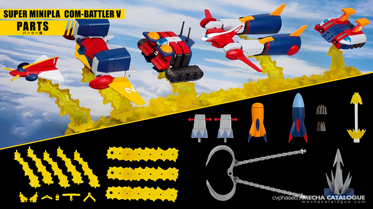 Super Minipla Com-Battler V & Option Parts Set