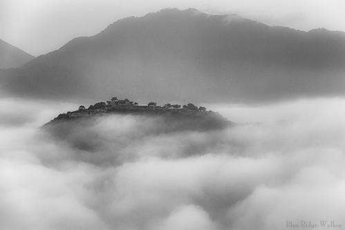 Ruins of Takeda Castle on the sea of clouds