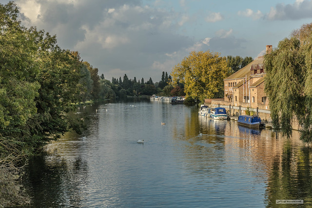 Great Ouse River at St. Neots, Cambridgeshire.