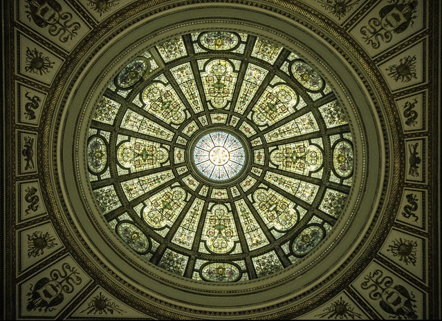 The other Tiffany dome in the Chicago Cultural center