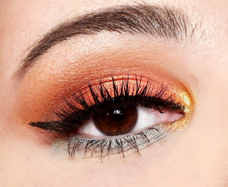wet n wildcolour icon not a basic peach eye look