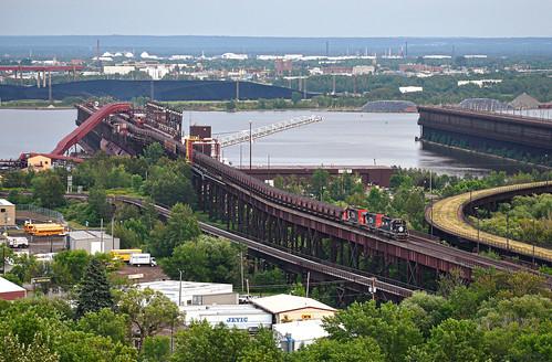 ic icdeathstar illinoiscentral illinoiscentraldeathstar ic6251 train trains railfan railfanning railroad ore oretrain oredock emd sd403 duluth duluthminnesota duluthmissabeandironrange duluthmn minnesota dock bridge traindock trainbridge railroadbridge railwaybridge