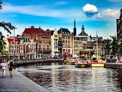Strolling along Rokin in Amsterdam