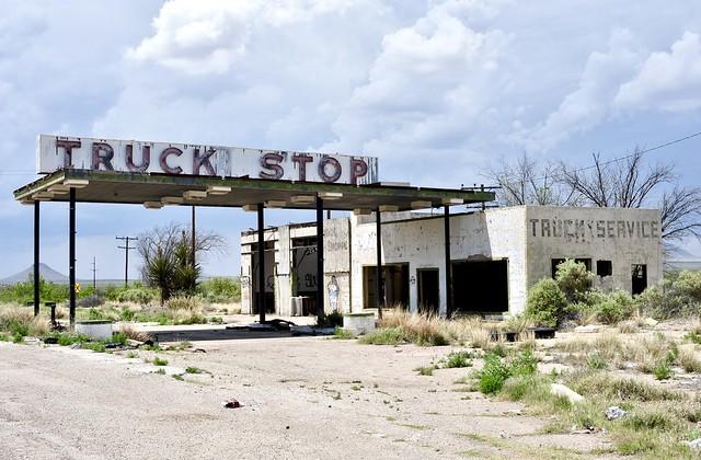 Truck Stop - Sierra Blanca, Texas.