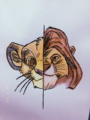 O rei leão #reileao #desenho #arte #desenhista #aquarela #pintura #cores #disney